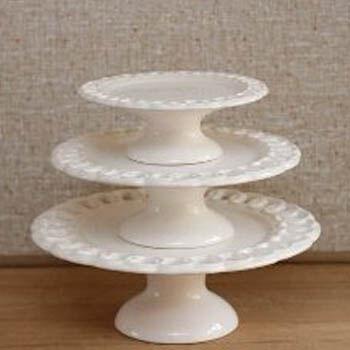 Aluguel Trio Porcelana Elos Branco 1