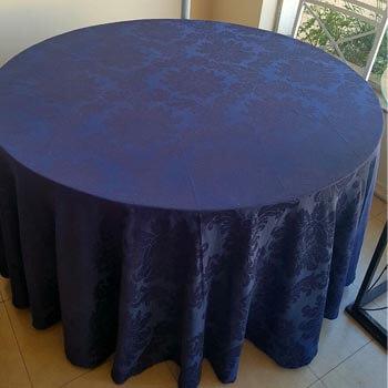 toalha adamascada azul marinho