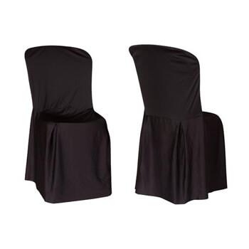 Aluguel Capa de Cadeira Fantasma Preta 1