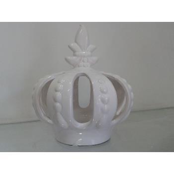 Aluguel Coroa de Porcelana Branca 1