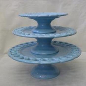 Aluguel Trio de Porcelana Elos Azul Bebê 1