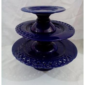 Aluguel Trio de Porcelana Milão Azul Marinho 1