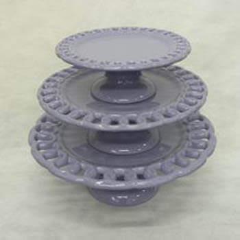 Aluguel Trio de Porcelana Elos Lilas 1