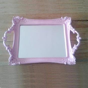 Aluguel Bandeja de Resina Espelhada Rosa 1