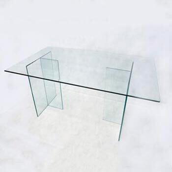 Aluguel Mesa de Vidro com pés de Vidro em T 1