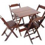 aluguel de jogo de mesa de madeira MM Locação