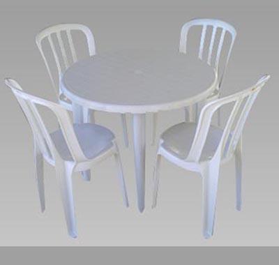 aluguel jogo de mesa redonda de plastico mm locacao
