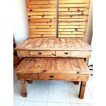 aluguel kit mesa rustica