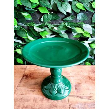 Aluguel Prato de Porcelana Verde Folha M 1
